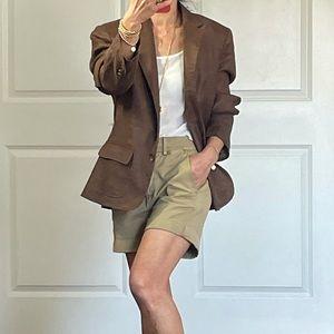 Lauren RL Brown 100% Linen Jacket size 8